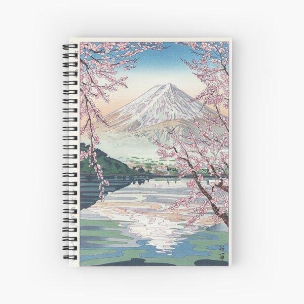 Mount Fuji Cherry Blossom Spiral Notebook