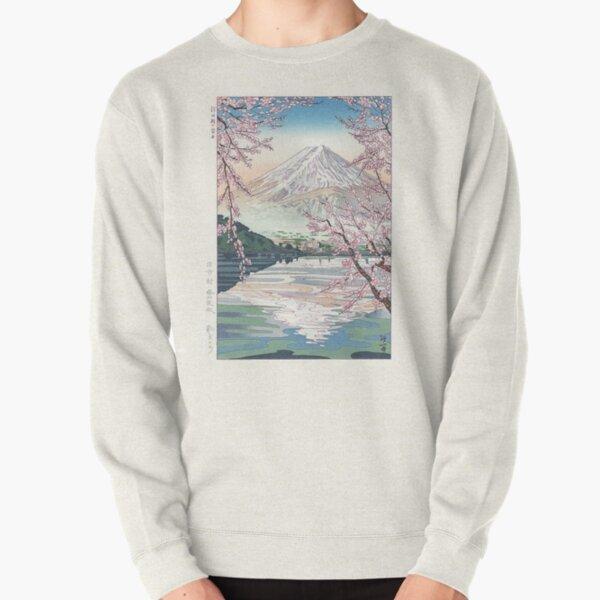 Mount Fuji Cherry Blossom Pullover Sweatshirt