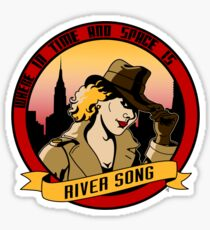 Where In Time and Space Is River Song? Sticker