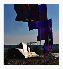The Pyramid (Main) Stage Photographic Print