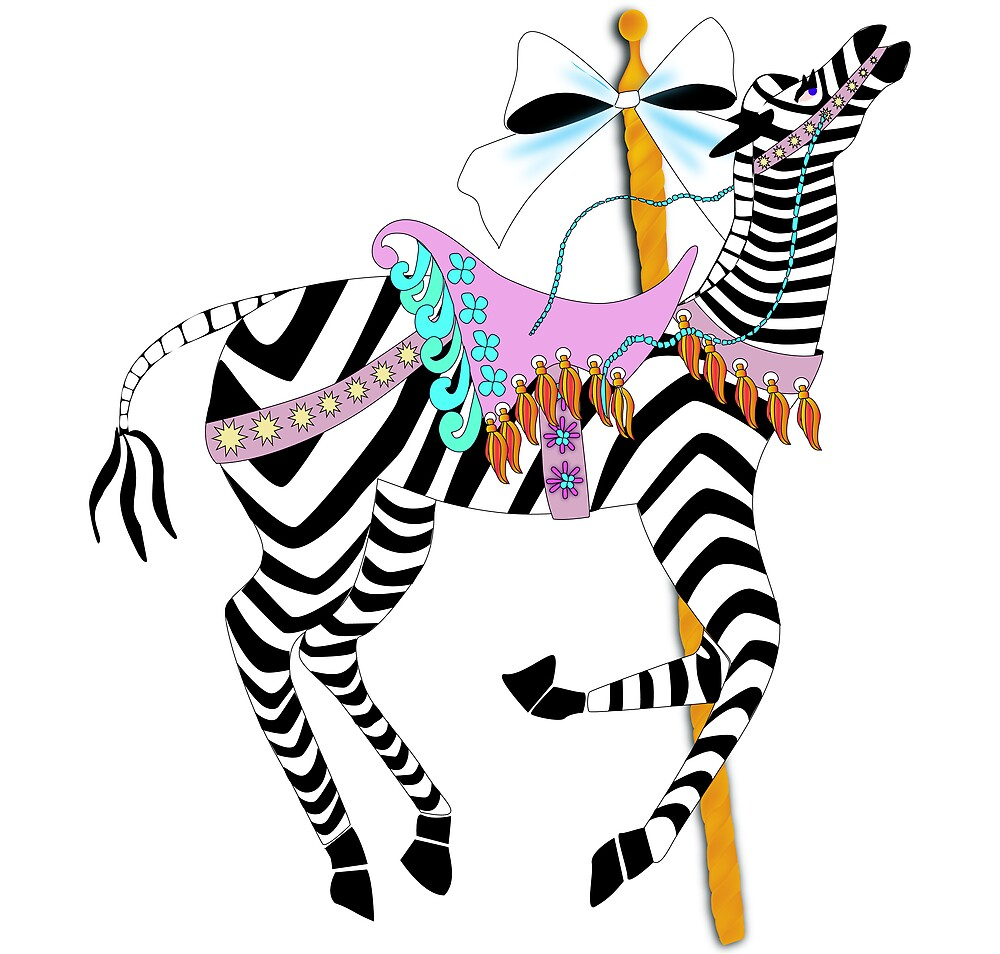 coloring pages of carousel zebra - photo#42