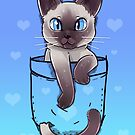 Pocket Cute Siamese Cat Kitten by TechraNova