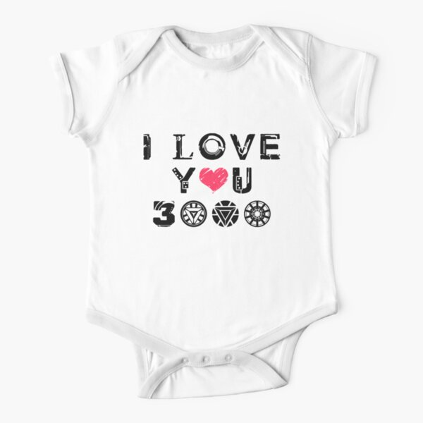 I Love You 3k Short Sleeve Baby One-Piece