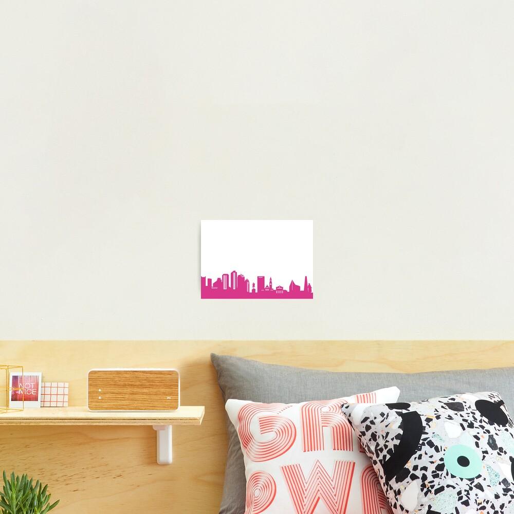 Boston skyline pink Photographic Print