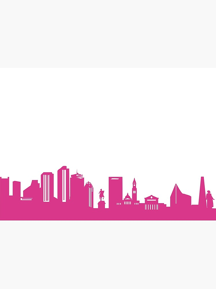 Boston skyline pink by 44spaces