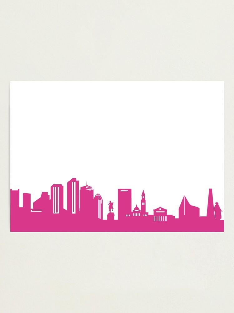 Alternate view of Boston skyline pink Photographic Print