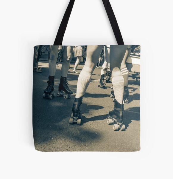 Carnival Skaters All Over Print Tote Bag