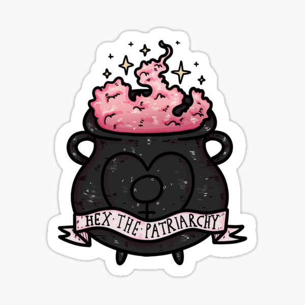 hex the patriarchy Sticker