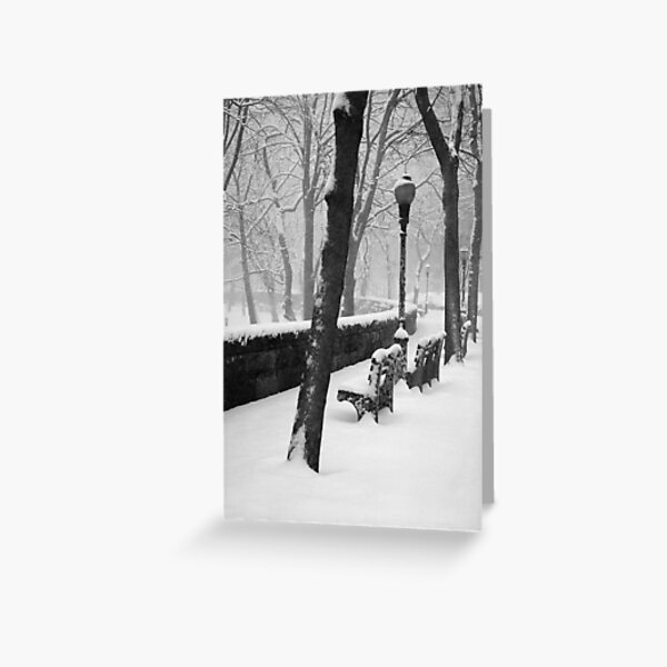 Old Bench Greeting Card