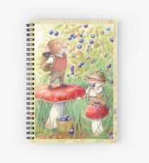 Bilberry Picking Spiral Notebook