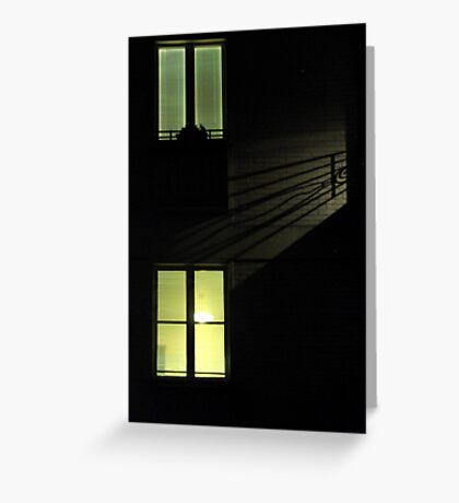 Paris - Rear window. Greeting Card