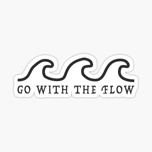 Pegatina Retro Ocean Waves Flow Pegatina