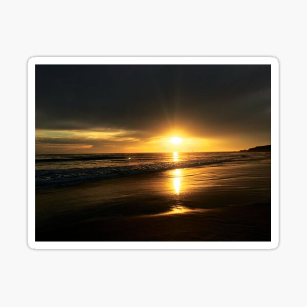 Sunset on the Beautiful Sandy Beach by Jerald Simon (Music Motivation - musicmotivation.com) Sticker