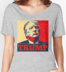 Vote TRUMP - Donald Trump in 2016 - Shepard Fairey Style - Make America Great Again Women's Relaxed Fit T-Shirt