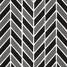 Fischgrät-Acryl - graue Palette von Cat Coquillette