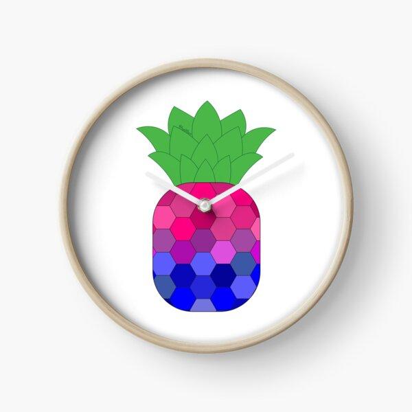 Bi-neapple > Bi Pineapple | Queer Fruit Collection Clock