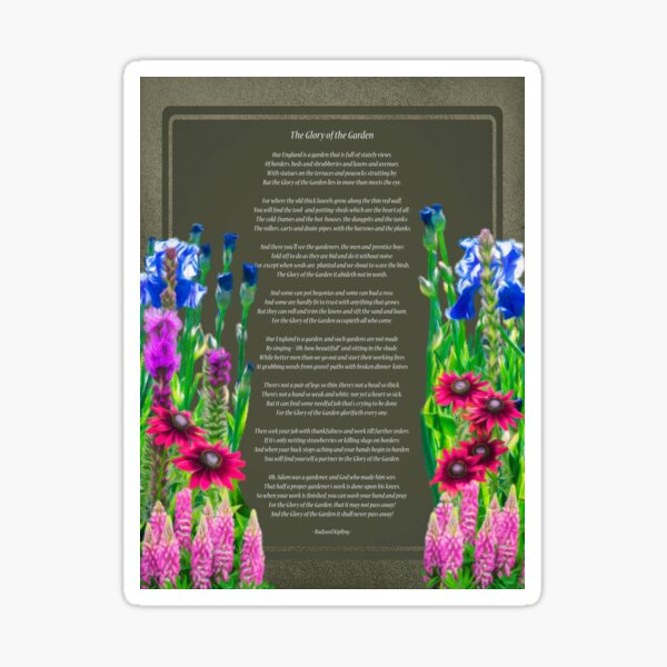The Glory Of The Garden Sticker