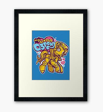 My Little C-3POny Framed Print