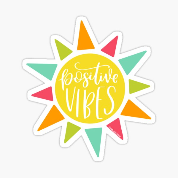 Positive Vibes, Summer Sunshine  Sticker