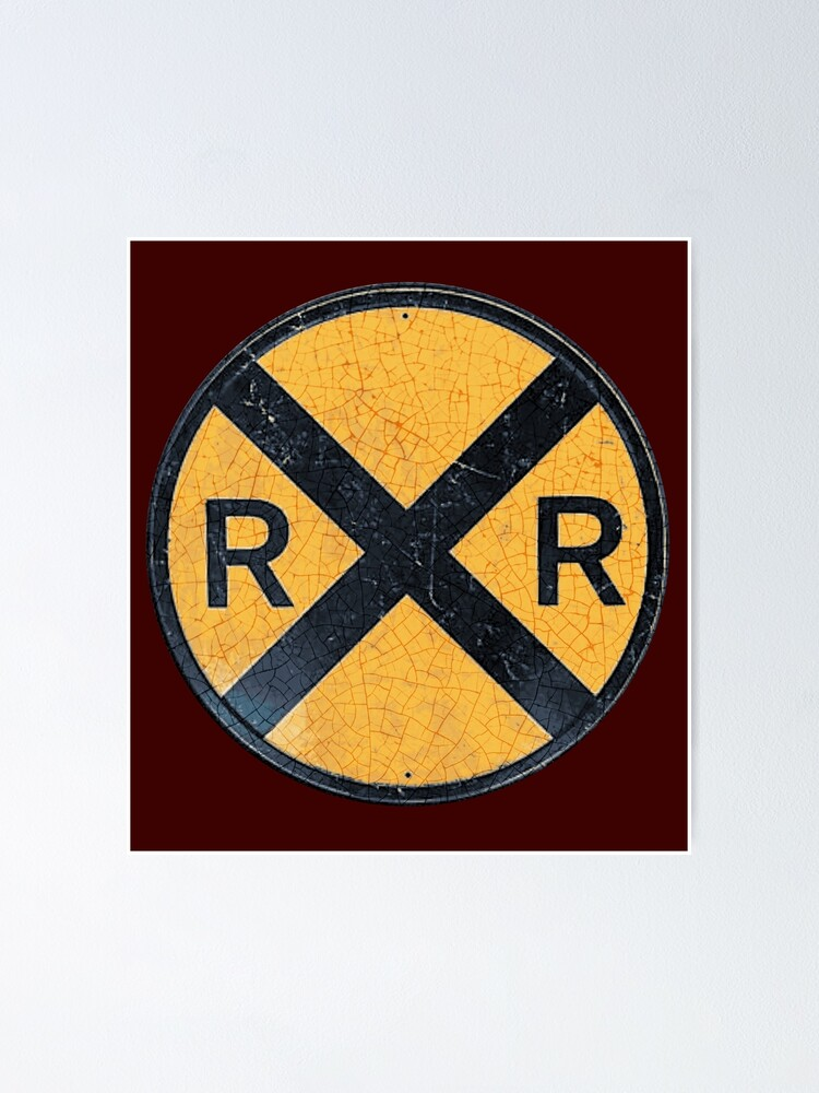 Alternate view of Railroad Crossing Poster
