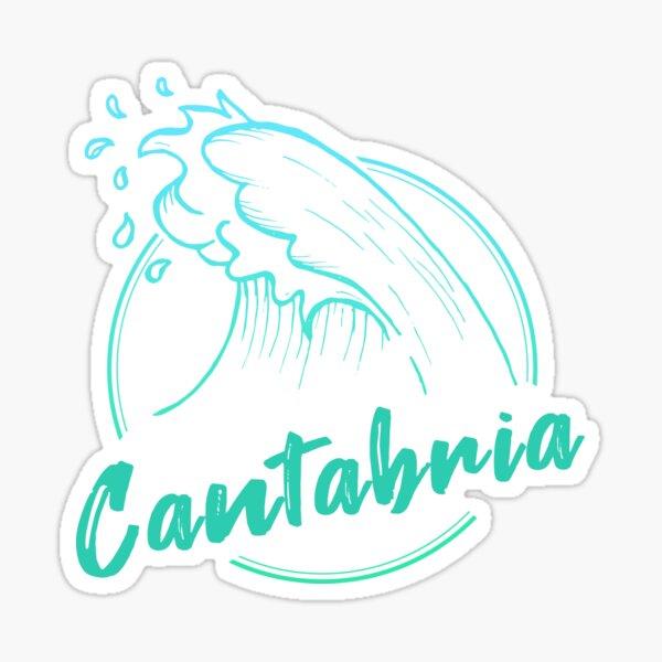 ola de surf cantabria Pegatina