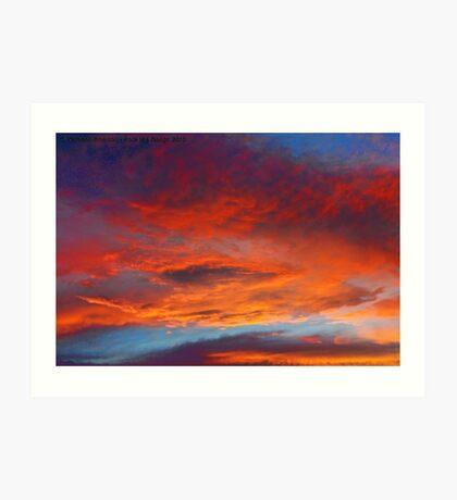 The Heavens Declare II Art Print