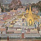 Thailand, Bangkok, Grand Palace, wall decoration. by johnrf
