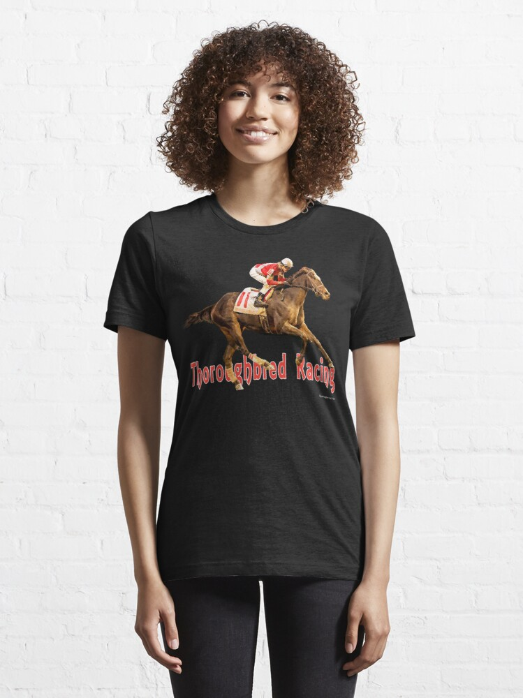 Alternate view of Thoroughbred Racing Essential T-Shirt