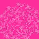 Blumiger Tiger in Rosa von marthaseahorse