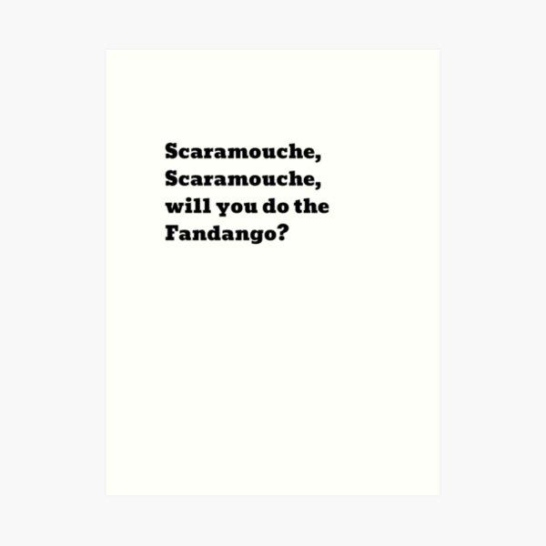 Letra de cancion Scaramouche, Scarmouche ... Queen Lámina artística