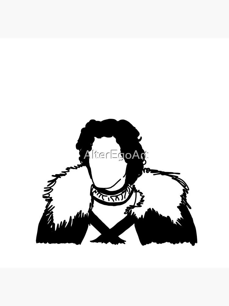 Jon Snow Line Art by AlterEgoArt