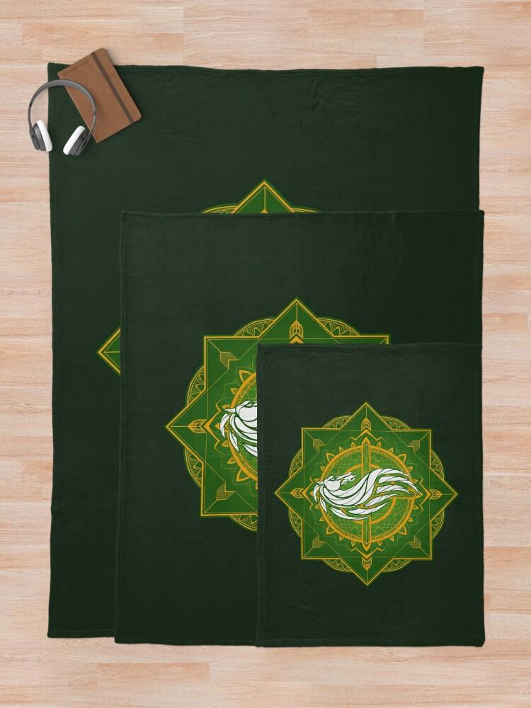Alternate view of Rider of Rohan (Heraldic Colours) Throw Blanket
