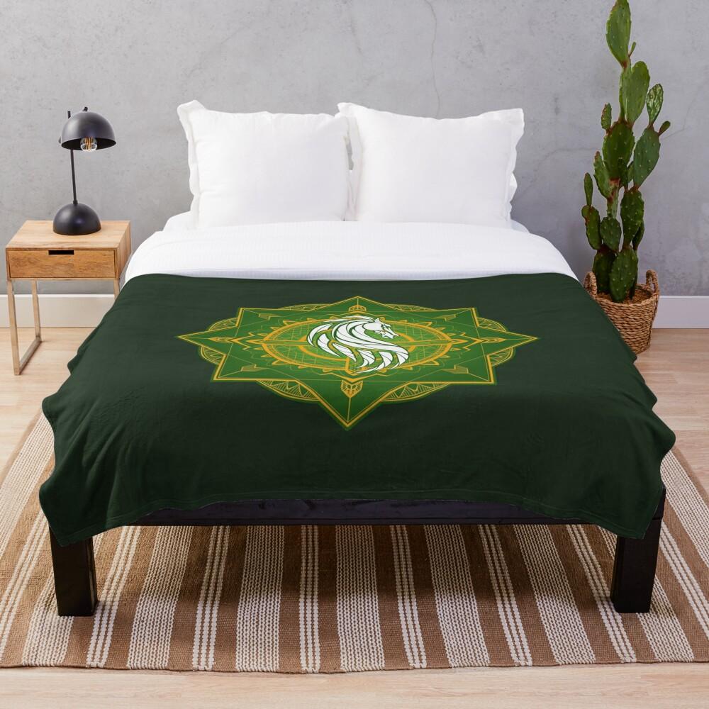 Rider of Rohan (Heraldic Colours) Throw Blanket