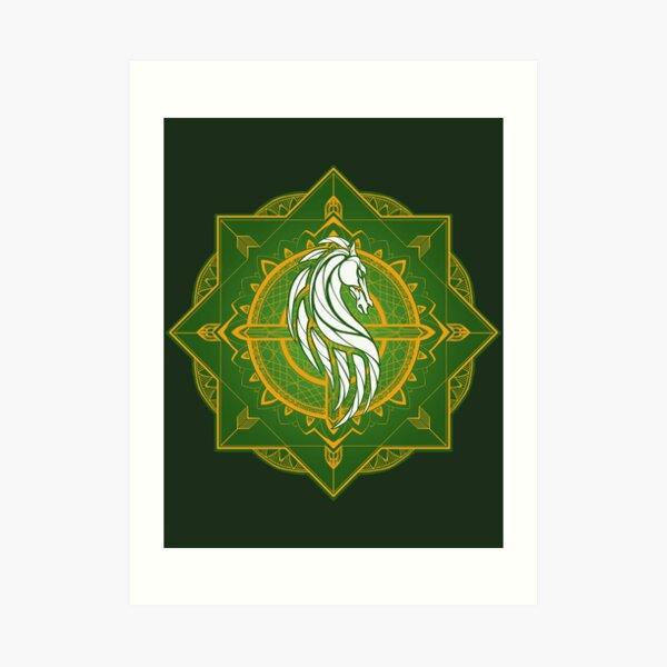 Rider of Rohan (Heraldic Colours) Art Print