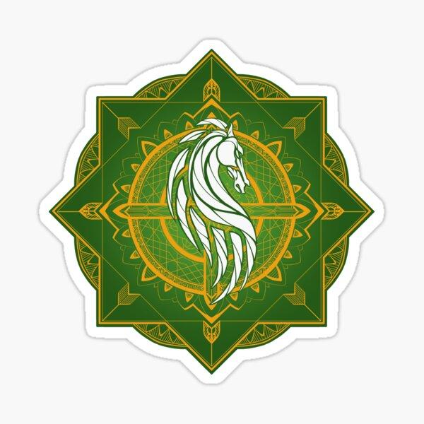 Jinete de Rohan (colores heráldicos) Pegatina