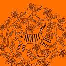 Blumiger Tiger in Orange und Braun von marthaseahorse