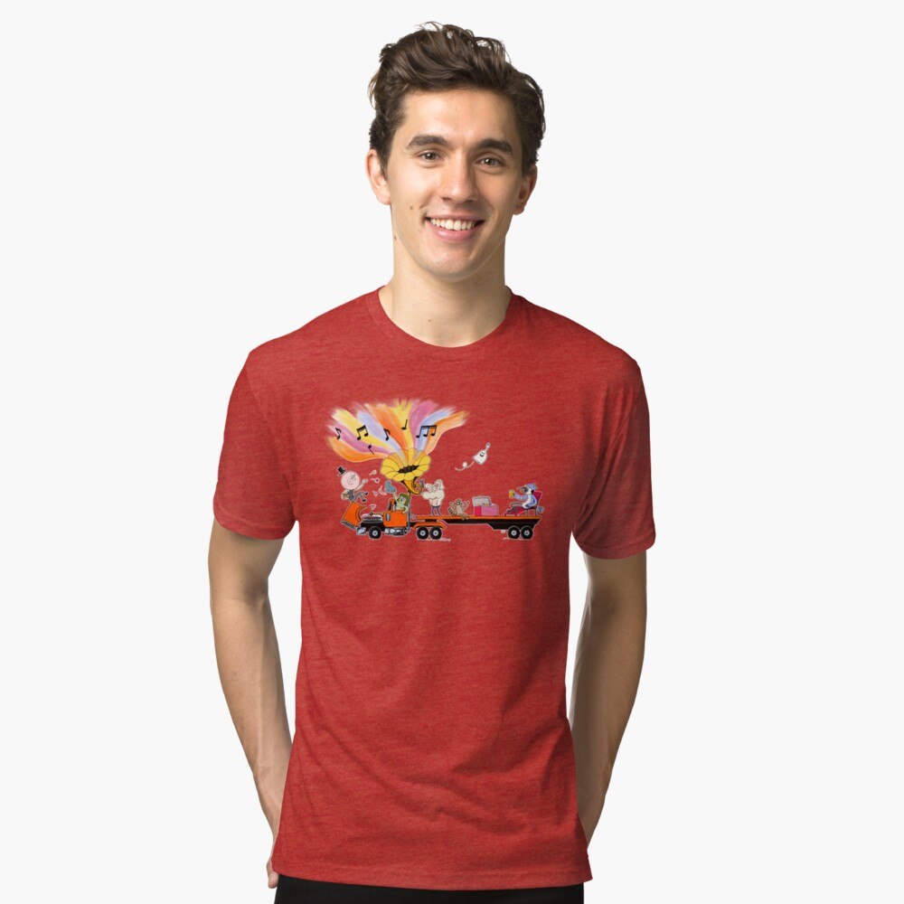 Truck Party with Mordecai and Rigby Tri-blend T-Shirt