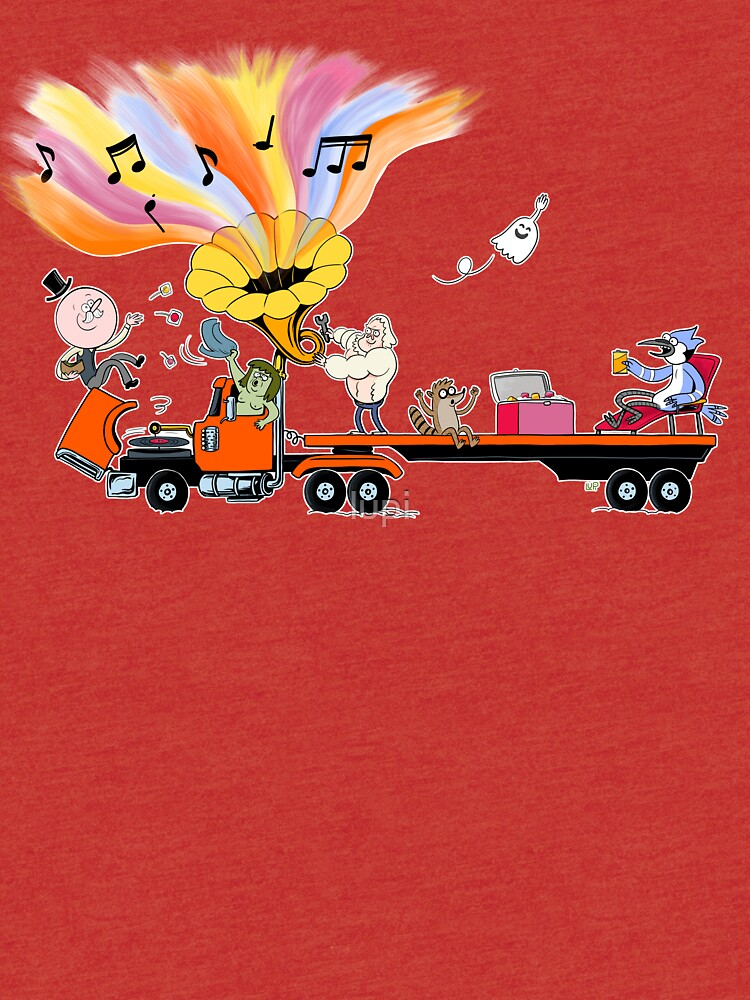 Truck Party with Mordecai and Rigby by lupi