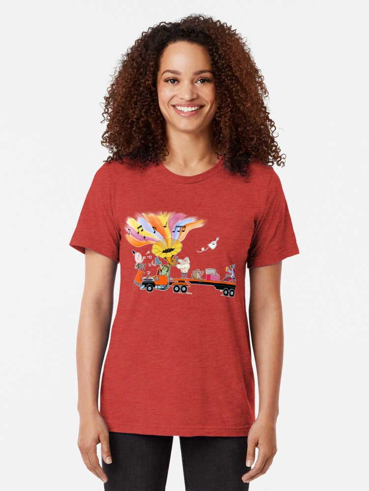 Alternate view of Truck Party with Mordecai and Rigby Tri-blend T-Shirt