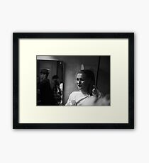 Random performer at Sedition 1983 Framed Print