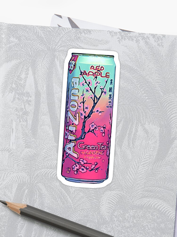Arizona Red Apple Green Tea Painting Aesthetic | Sticker