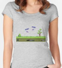 Duck Hunt! Pew! Pew! Women's Fitted Scoop T-Shirt