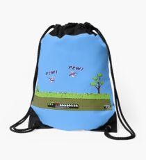 Duck Hunt! Pew! Pew! Drawstring Bag