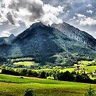 Mountain Hochkalter. Germany. by Daidalos