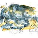 « Série bleu et jaune 6 » par Vincent Debats