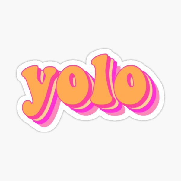 yolo-summer vibes Sticker