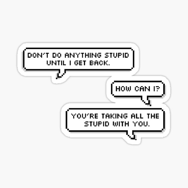 Steve and Bucky Quote Sticker