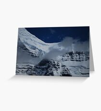 July Snow - Mt. Robson Greeting Card