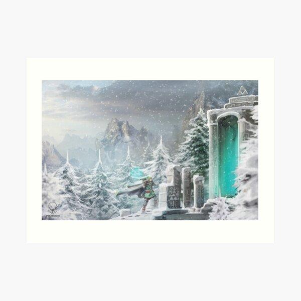 Snow Temple Art Print