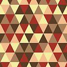 Retro geometric pattern in warm tones by miroshina